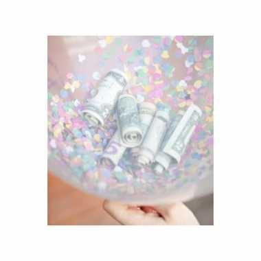 Feestelijke confetti hartjes ballonnen 25 stuks