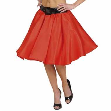 Feestkleding rode swing rok voor dames