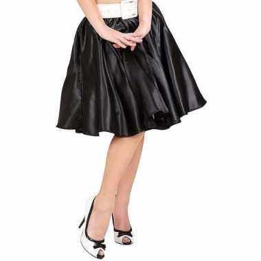 Feestkleding zwarte swing rok voor dames