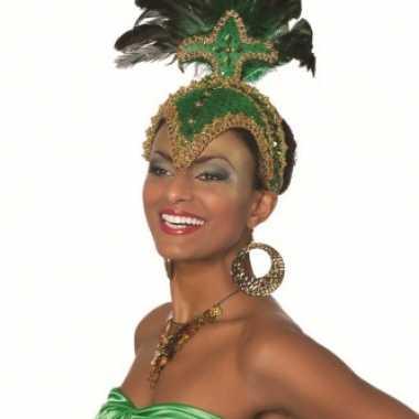 Feestmasker groen voor dames