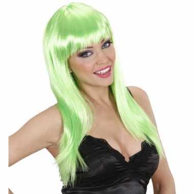 Feestpruik dames groen stijl haar