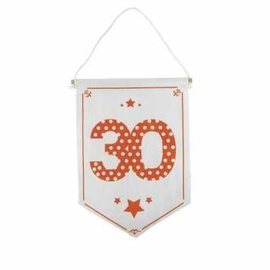 Feestversiering 30 jaar geworden vaantje/vlaggetje