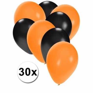 Feestversiering halloween ballonnen 30 stuks