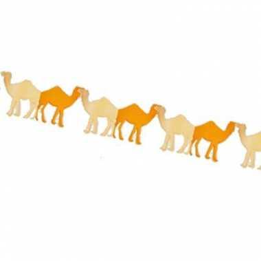 Feestversiering kamelen slinger 3 m