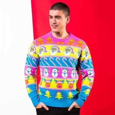 Fel gekleurde trui voor de kerst voor heren