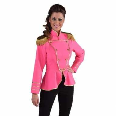 Fel roze circus jas voor vrouwen