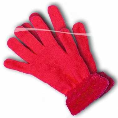 Felroze handschoenen