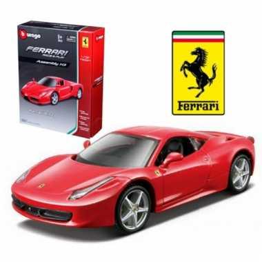 Ferrari 458 rood schaalmodel 1:32
