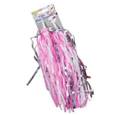 Fiets accessoires handvaten versiering roze