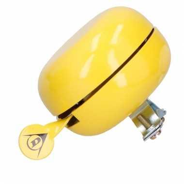 Fietsbel van metaal in het geel