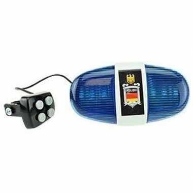 Fietsverlichting met politie sirene