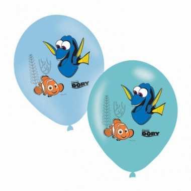 Finding dory feest ballonnen gekleurd 6 stuks