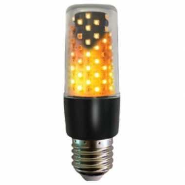 Firelamp vuurlamp peertje zwart e27 fitting onder of boven