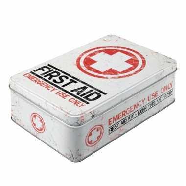 First aid bewaarblik van metaal 23 cm