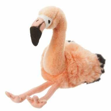 Flamingo knuffel van 18 cm