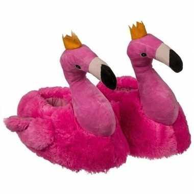 Flamingo sloffen roze voor dames