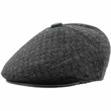 Flat cap bruin acryl/katoen voor heren