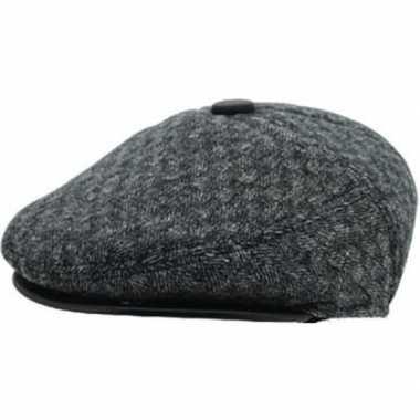 Flat cap lichtgrijs acryl/katoen voor heren
