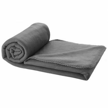 Fleece deken antraciet 150 x 120 cm