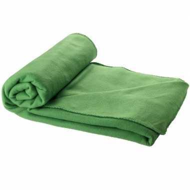 Fleece deken groen 150 x 120 cm