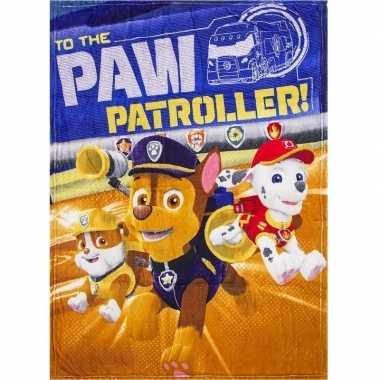 Fleece deken paw patrol honden voor jongens