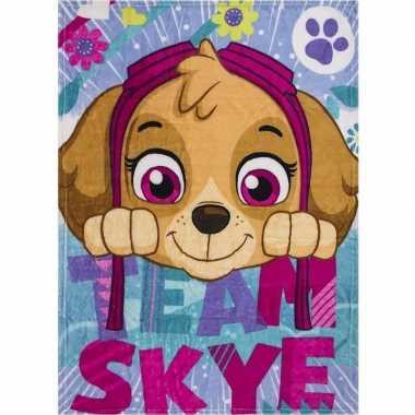 Fleece deken paw patrol honden voor meisjes