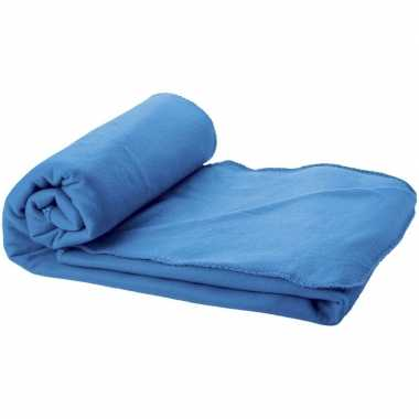 Fleece deken zee blauw 150 x 120 cm