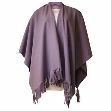 Fleece poncho lila paars