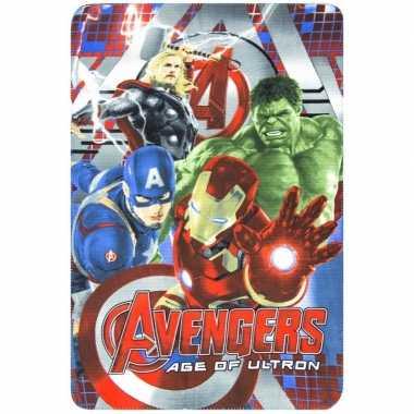 Fleecedeken marvel avengers voor jongens