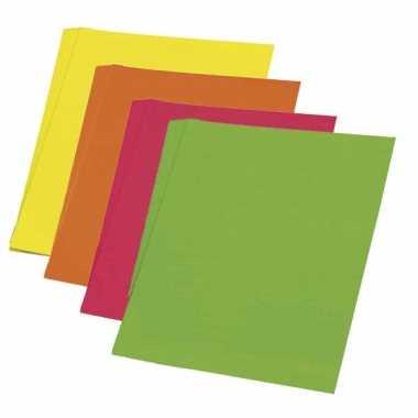 Fluor papier groen 48 x 68 cm