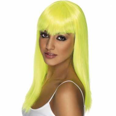 Fluoriserende gele damespruik