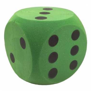Foam dobbelstenen groen 16 x 16 cm
