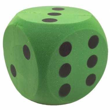 Foam dobbelstenen groen 4 x 4 cm