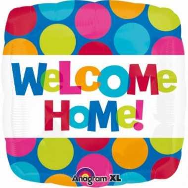 Folie ballon welcome home met helium 43 cm