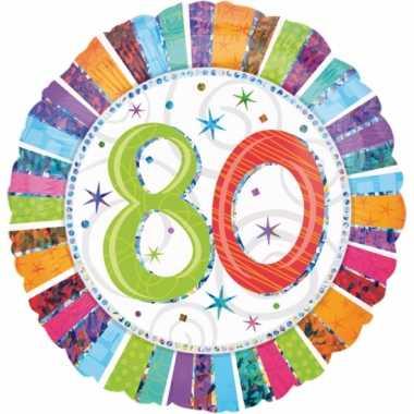Folie ballonnen 80 jaar