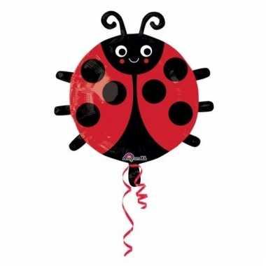 Folie ballonnen lieveheersbeestjes 45 cm