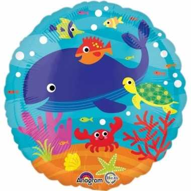 Folie ballonnen zeedieren 43 cm