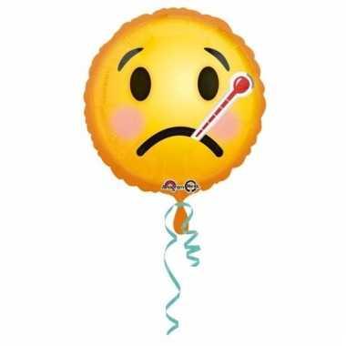 Folie ballonnen ziekte smiley 43 cm