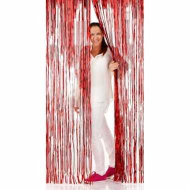 Folie deurgordijnen rood 2 meter