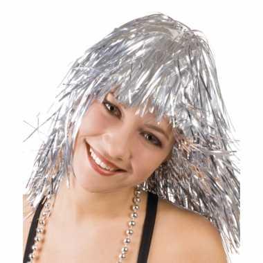Folie pruiken zilver