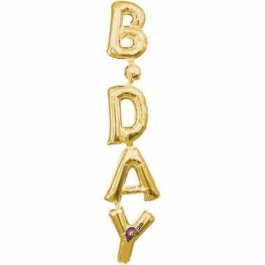 Folieballon birthday goud 96 cm