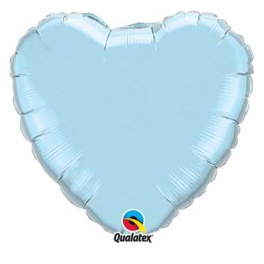 Folieballon blauw hart 45 cm