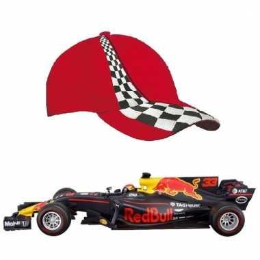 Formule 1 schaalmodel auto max verstappen 1:43 met rode pet