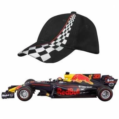 Formule 1 schaalmodel auto max verstappen 1:43 met zwarte pet