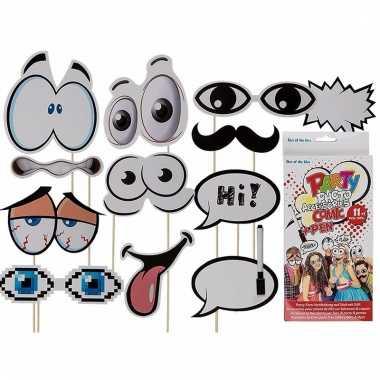 Foto accessoires feest cartoon set