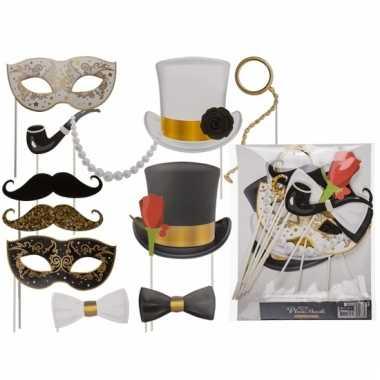 Foto accessoires glamour op stokjes