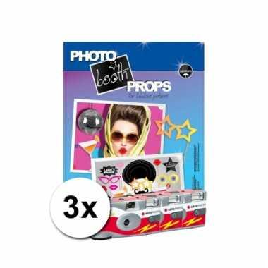 Foto booth props voor verjaardagen incl 3x wegwerp camera