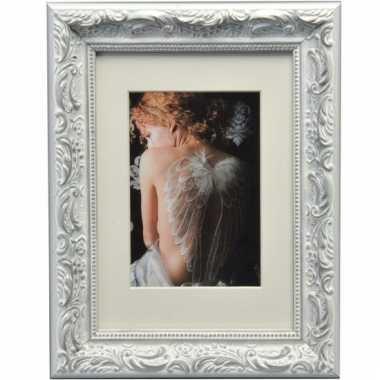 Fotoframe barok zilver 13 x 18 cm