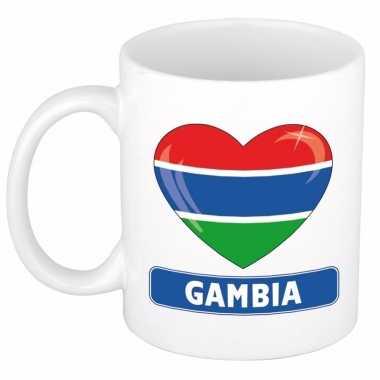 Gambiaanse vlag hart mok / beker 300 ml