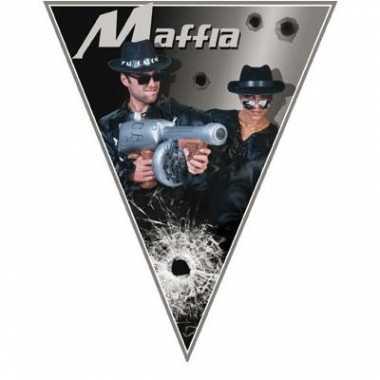 Gangster thema vlaggenlijn maffia
